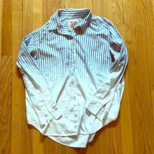 Button down blue ombré cotton shirt